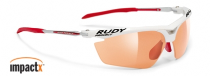 RUDY PROJECT MAGSTER IMPACT X in color RACING-WHITE-GLOSS-IMPACTX-PHOTOCHROMIC-RED-LENS