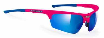 RUDY PROJECT NOYZ in color PINK-FLUO-MULTILASER-BLUE-LENS