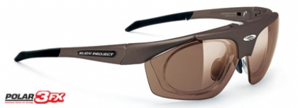 RUDY PROJECT PERCEPTION POLARIZED in color BROWN-VELVET-POLAR-3FX-BROWN-LASER-LENS