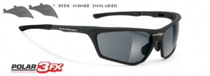 RUDY PROJECT ZYON POLARIZED in color MATTE-BLACK-POLAR-3FX-GREY-LASER-LENS