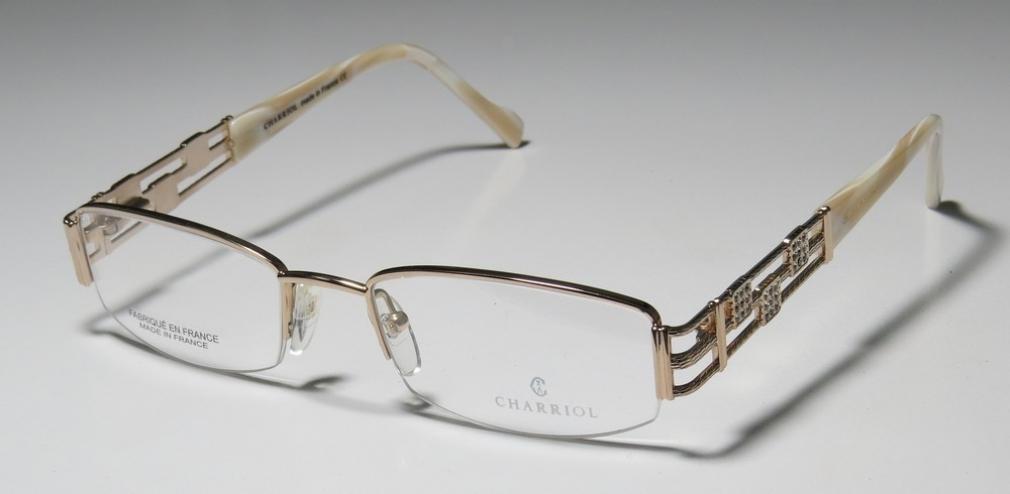 Gold Coloured Glasses Frames : Charriol 7346 Eyeglasses