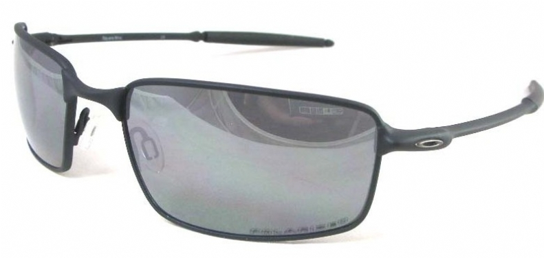 Oakley Square Wire Polarized Iridium Rectangular Sunglasses