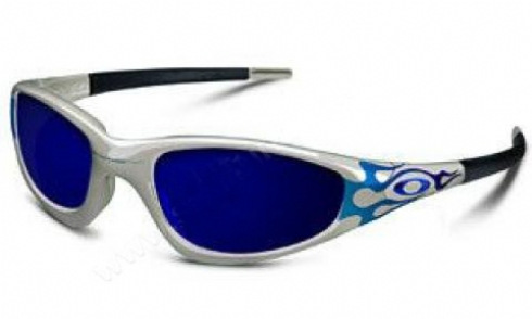 52ad00055e OAKLEY STRAIGHT JACKET 04261 04261 ice iridium silver with blue flames