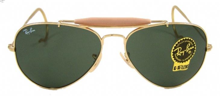 ray ban aviator wrap ear sunglasses